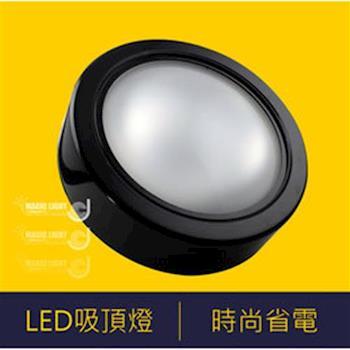 【光的魔法師 Magic Light】LED黑色薄型吸頂燈  薄型 卡榫安裝設計 防潮防水氣