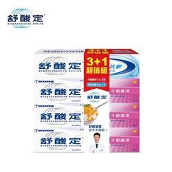 【舒酸定】長效抗敏牙膏 牙齦護理120g*3+速效抗敏牙膏 超值組