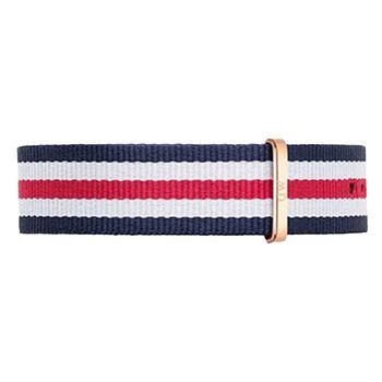 DW Daniel Wellington 藍白紅帆布錶帶/20mm(0302DW)