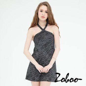 削背繞頸貼身連身裙小禮服,晚宴服,心機洋裝(Q5005) 黑色