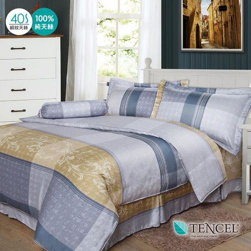 夢工場 安娜貝拉天絲五件式中式寢具組-雙人
