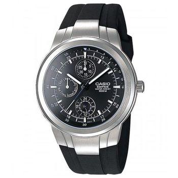 【CASIO】EDIFICE 簡約刻度造型概念塑膠錶帶指針錶 EF-305-1A