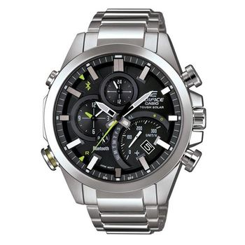 【CASIO】EDIFICE 全新首款金屬藍牙智慧型指針腕錶 EQB-500D-1A
