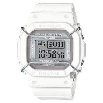 CASIO 卡西歐 Baby-G 復刻版中性腕錶-白 BGD-501UM-7DR