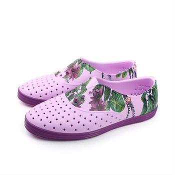 native JERICHO 洞洞鞋 紫色 女鞋 no520