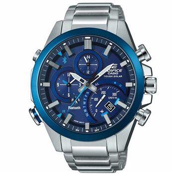 【CASIO】EDIFICE 旅行者專屬高科技指針藍芽錶 EQB-500DB-2A