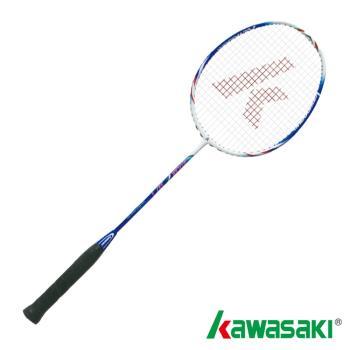 【KAWASAKI】KBD527全碳纖維羽球拍(消光白/藍)