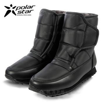 PolarStar 男 保暖雪鞋│雪靴│冰爪 『漆皮黑』P13619  雪地必備
