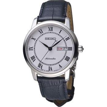 SEIKO 精工 Presage 羅馬假期機械腕錶 4R36-04E0C 皮帶款 SRP761J2