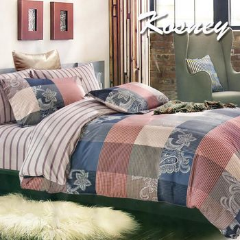 【KOSNEY】時尚定制  頂級法蘭絨特大四件式兩用被套床包組