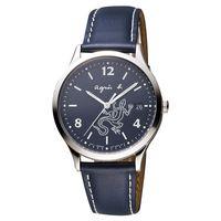 agnes b. 巴黎城市戀人腕錶 ^#45 藍 ^#47 36mm V157 ^#45
