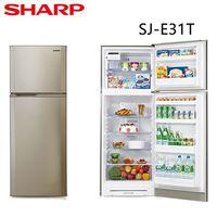 ~SHARP夏普~310L 雙門左開冰箱 SJ ^#45 E31T