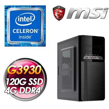 |微星平台|殺手(G3930 120G SSD 4G DDR4 400W)7代效能電腦