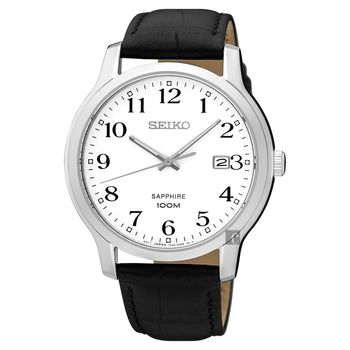 SEIKO精工 CS系列城市戀人皮帶腕錶-白/41mm 7N42-0GE0C(SGEH69P1)
