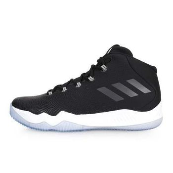 【ADIDAS】男籃球鞋 黑白