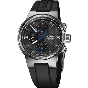 Oris 豪利時 Williams計時碼機械腕表-碳纖維x黑/44mm 0177477174164-0742450