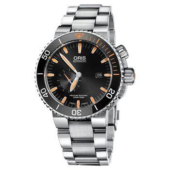 Oris Carlos Coste 專業500米潛水限量錶-橘時標x黑框/46mm 0174377097184-SetMB