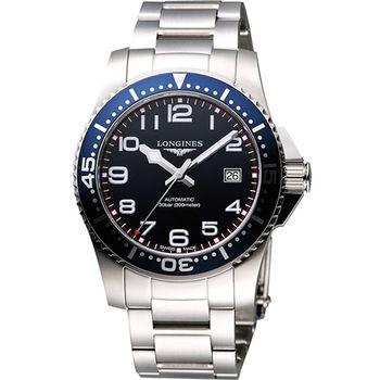 LONGINES 深海征服者300米潛水機械錶-藍 L36944036