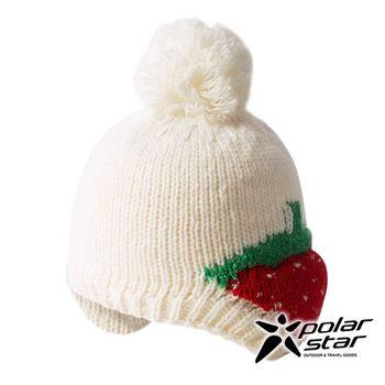 PolarStar 兒童 草莓造型保暖帽 │針織帽│豆豆帽│羊毛帽 『白』 P16620