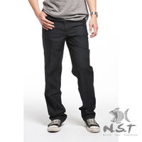 ~NST Jeans~390 ^#40 8902 ^#41 藍黑色 咖啡繡英文字休閒長褲