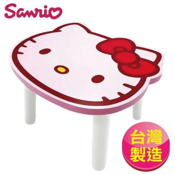 【Hello Kitty】台灣製 凱蒂貓大頭造型矮凳椅子-粉(SANRIO正版授權)