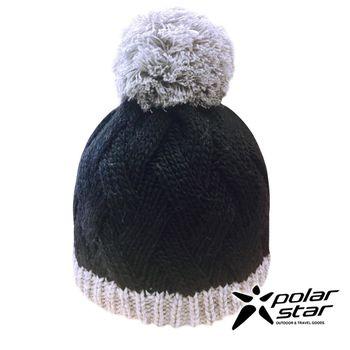 PolarStar 兒童 保暖帽『黑』│針織帽│保暖帽│豆豆帽│羊毛帽 P16619