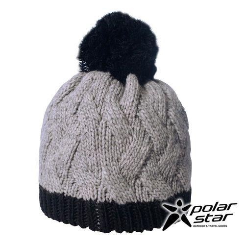 PolarStar 兒童 保暖帽『灰』│針織帽│保暖帽│豆豆帽│羊毛帽 P16619