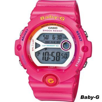 CASIO Baby-G 慢跑運動機能錶 BG-6903-4B 桃紅