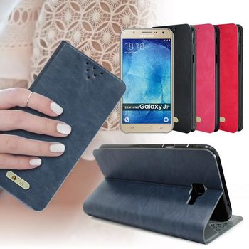 ORis Samsung Galaxy J7 版 亮彩風格側翻皮套