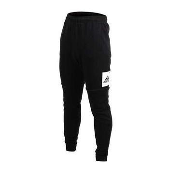 【ADIDAS】男運動長褲-慢跑 路跑 訓練 愛迪達 黑白