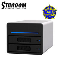 STARDOM 3.5吋 2.5吋USB3.0 eSATA 2bay磁碟陣列設備-ST2~
