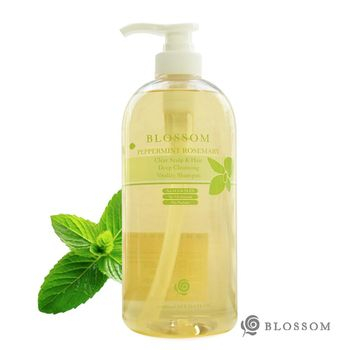 【BLOSSOM】薄荷迷迭香清爽活髮深層淨化修護洗髮精(1000ML/瓶)