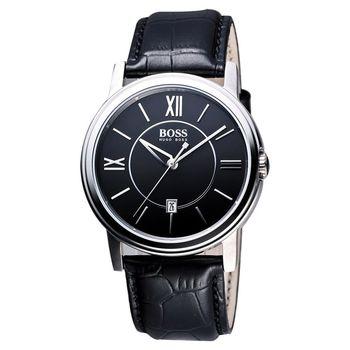 Hugo Boss 簡約都會石英腕錶-黑/38mm H1512389
