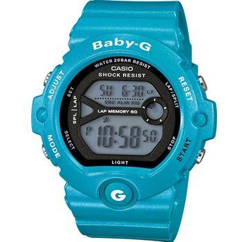 BABY-G  慢跑運動時尚腕錶 BG-6903-2 藍x黑