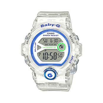 CASIO 卡西歐Baby-G 少女時代電子錶-果凍白 / BG-6903-7D (台灣公司貨)