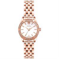 【JULIUS】六個願望水鑽鋼帶腕錶 三色 26mm