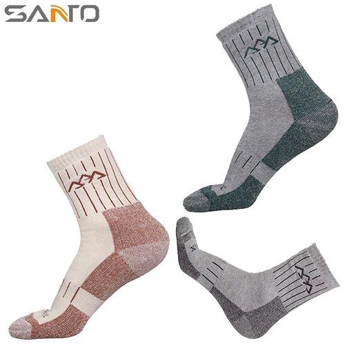 山拓Santo杜邦COOLMAX運動襪中筒襪登山襪 S015 (男襪.全厚款)