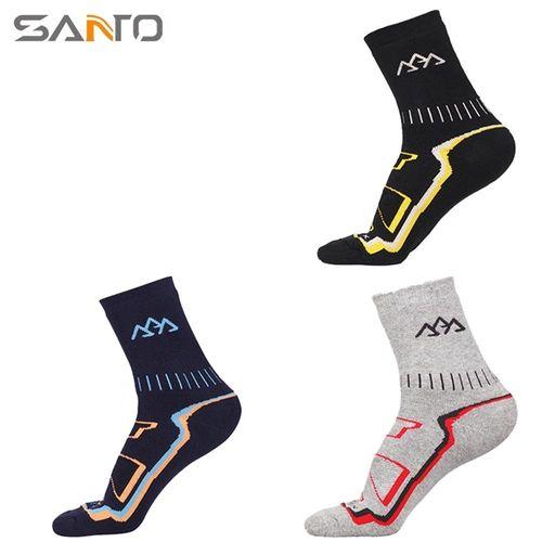 山拓Santo杜邦COOLMAX運動襪中筒襪登山襪 S016 (男襪.全厚款)