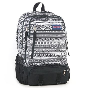 JanSport DIGITAL背包(ENVOY)-黑白圖騰