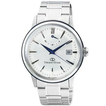 ORIENT 東方錶 ORIENT STAR 藍寶石機械鋼帶錶-銀 / SEL05003W (原廠公司貨)