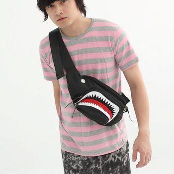 DF BAGSCHOOL - 鯊魚俠造型個性款隨身腰包