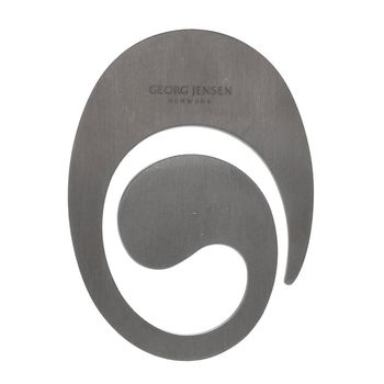 GEORG JENSEN 5076 MONEY CLIP橢圓造型LOGO鈔票夾(銀)