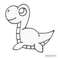 【BabyTiger虎兒寶】愛玩色 兒童無毒DIY彩繪玻璃貼 - 小張圖卡- 可愛龍 IP