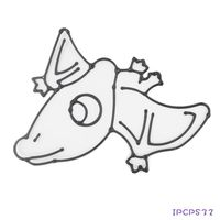 【BabyTiger虎兒寶】愛玩色 兒童無毒DIY彩繪玻璃貼 - 小張圖卡- 翼手龍 IP