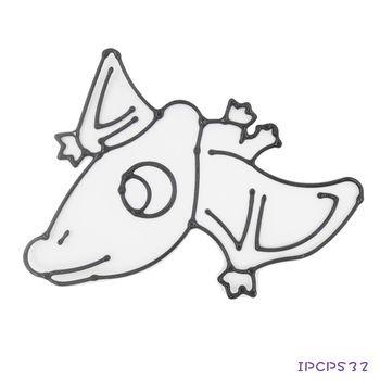 【BabyTiger虎兒寶】愛玩色 兒童無毒DIY彩繪玻璃貼 -配件 小張圖卡- 翼手龍 IPCPS32