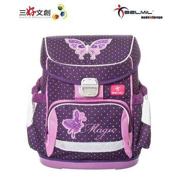 【Belmil貝米兒】歐洲兒童護脊書包 巧幼系列-紫蝶翩翩