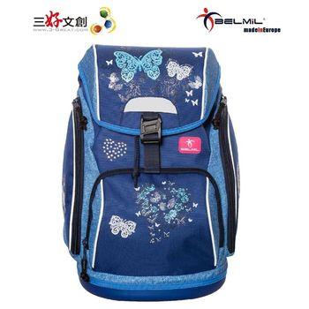 【Belmil貝米兒】歐洲兒童護脊書包 舒適系列-藍蝶翩翩
