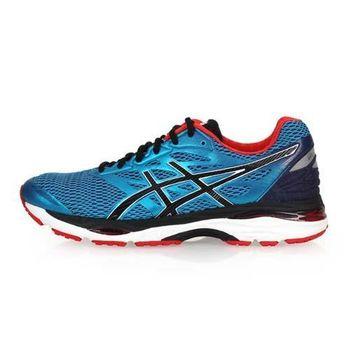 【ASICS】CUMULUS 18男慢跑鞋-路跑 亞瑟士 藍黑紅