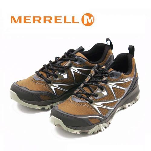 MERRELL CAPRA BOLT GORE-TEX 登山健行鞋(迷彩底限定) 男鞋-橄欖綠