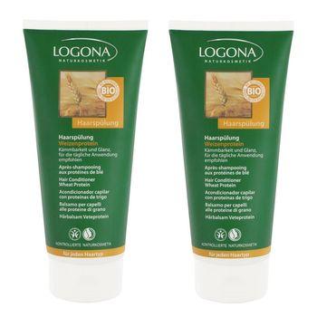 【即期品】LOGONA諾格那 小麥蛋白柔亮潤護髮乳(所有髮質適用) 200ML《兩入》-效期:2017/04/30